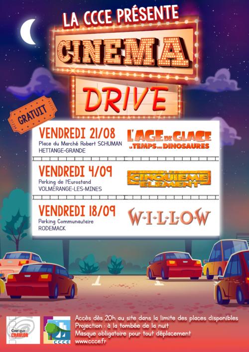 Affiche A3 CINE DRIVE
